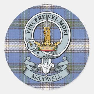 McDowell Crest + Tartan Sticker Pack