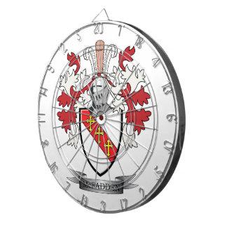McFadden Family Crest Coat of Arms Dartboard