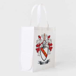 McFadden Family Crest Coat of Arms Grocery Bags