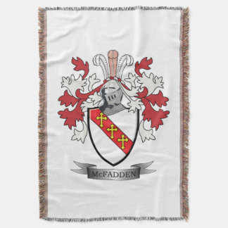 McFadden Family Crest Coat of Arms Throw Blanket