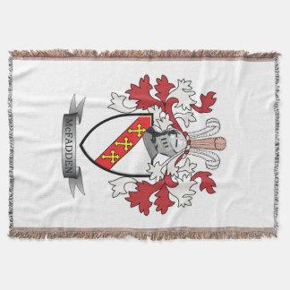 McFadden Family Crest Coat of Arms Throw Blanket