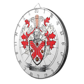 McFarland Family Crest Coat of Arms Dartboard