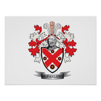 McFarland Family Crest Coat of Arms Poster