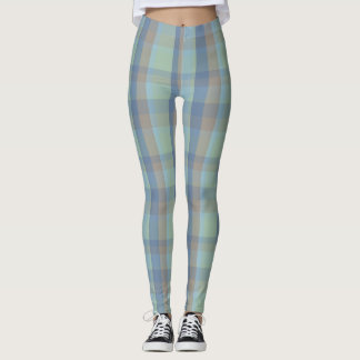 McFig Spring Summer Tartan Plaid Leggings