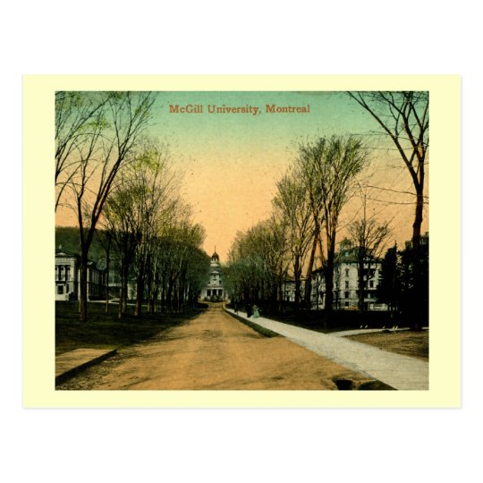 McGill university, Montreal, Canada Vintage Postcard