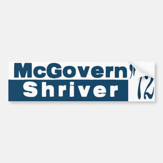McGovern Shriver 1972 Bumper Sticker