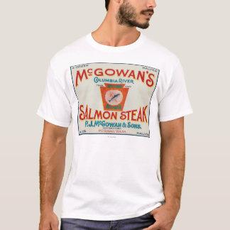 McGowan, Washington - Keystone Salmon Case Label T-Shirt