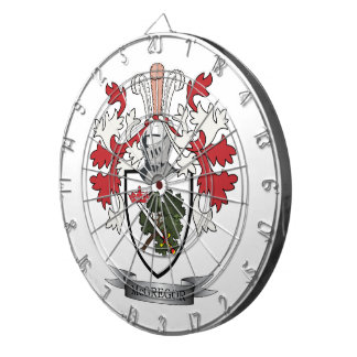 McGregor Family Crest Coat of Arms Dartboards