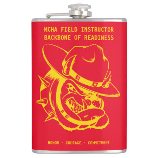MCHA Red and Gold Field Instructor Flask