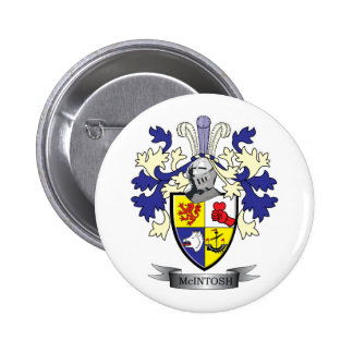 McIntosh Family Crest Coat of Arms 2 Inch Round Button