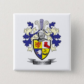 McIntosh Family Crest Coat of Arms 2 Inch Square Button
