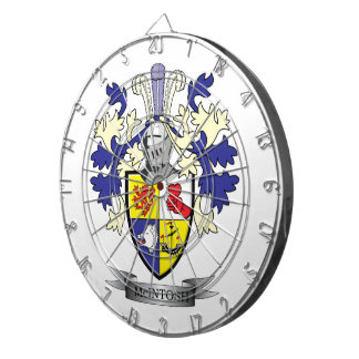 McIntosh Family Crest Coat of Arms Dartboard