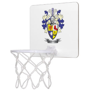 McIntosh Family Crest Coat of Arms Mini Basketball Hoop