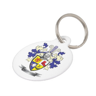 McIntosh Family Crest Coat of Arms Pet ID Tag