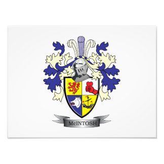 McIntosh Family Crest Coat of Arms Photo Print
