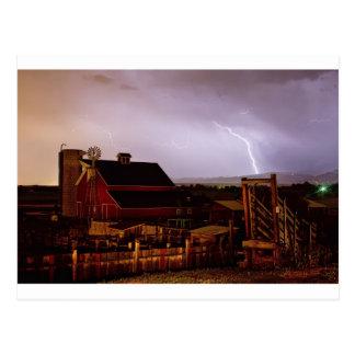 McIntosh Farm Lightning Thunderstorm Postcard