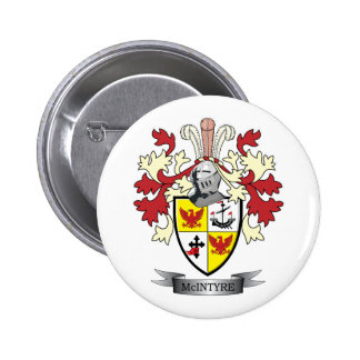 McIntyre Family Crest Coat of Arms 2 Inch Round Button
