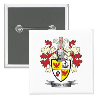 McIntyre Family Crest Coat of Arms 2 Inch Square Button