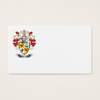 McIntyre Family Crest Coat of Arms Business Card