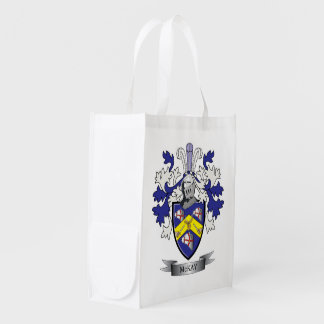McKay Family Crest Coat of Arms Grocery Bags