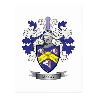 McKay Family Crest Coat of Arms Postcard
