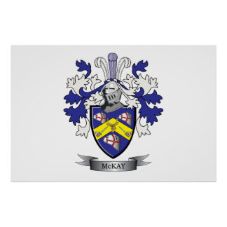 McKay Family Crest Coat of Arms Poster