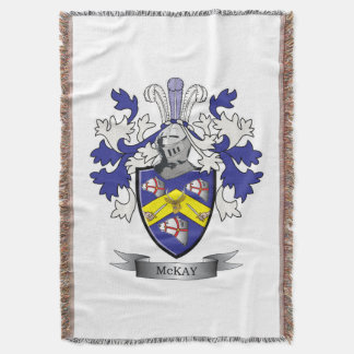 McKay Family Crest Coat of Arms Throw Blanket
