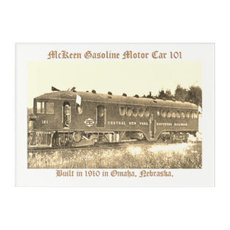McKeen Gasoline Motor Car 101 Acrylic Wall Art
