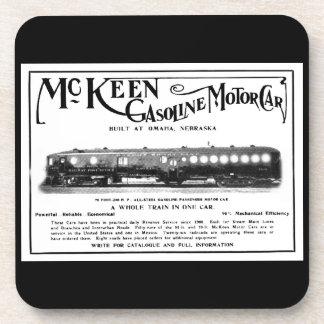 McKeen Gasoline Motor Cars 1911 Beverage Coasters
