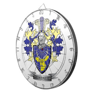 McKenzie Family Crest Coat of Arms Dart Boards