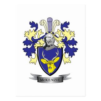 McKenzie Family Crest Coat of Arms Postcard