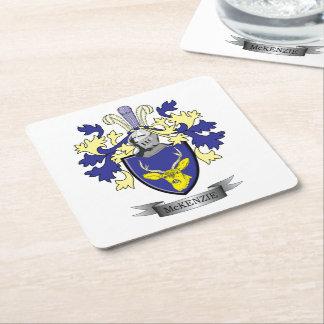McKenzie Family Crest Coat of Arms Square Paper Coaster