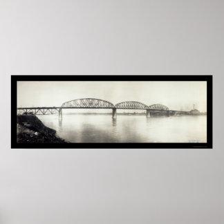 McKinley Bridge MO Photo 1910 Poster