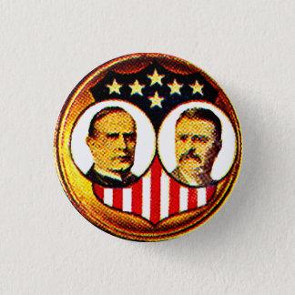 McKinley-Roosevelt jugate 1 Inch Round Button