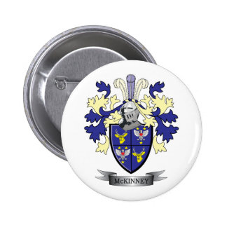 McKinney Family Crest Coat of Arms 2 Inch Round Button