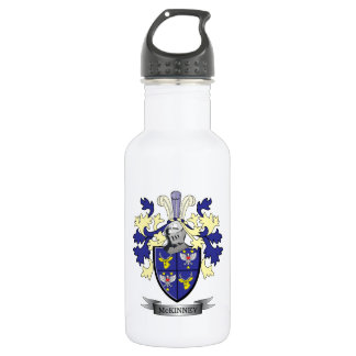 McKinney Family Crest Coat of Arms 532 Ml Water Bottle
