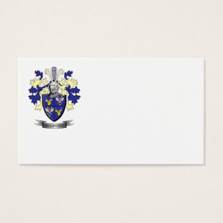 McKinney Family Crest Coat of Arms Business Card