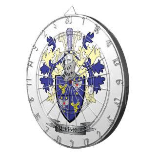 McKinney Family Crest Coat of Arms Dart Board
