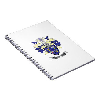 McKinney Family Crest Coat of Arms Notebook