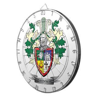 McKinnon Family Crest Coat of Arms Dartboards