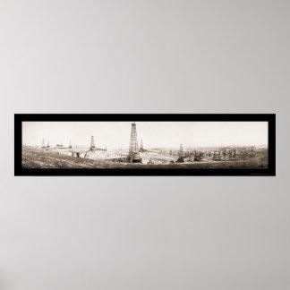 McKittrick Oil Field Photo 1910 Poster