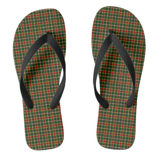 McLachlin Hunting Tartan Plaid Pattern Flip Flops