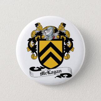 McLagan Family Crest 2 Inch Round Button