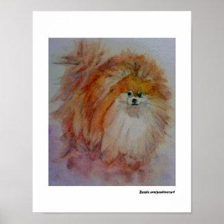 MClairArt's PawLoversArt Pomeranian Print