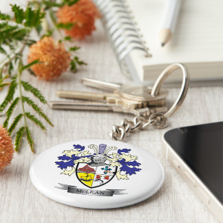 McLean Family Crest Coat of Arms Keychain