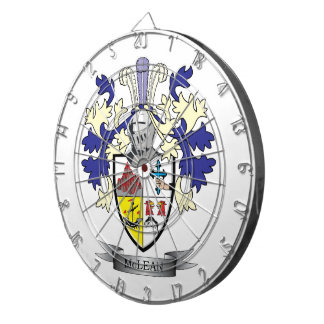 McLean Family Crest Coat of Arms    TITLE Dartboard
