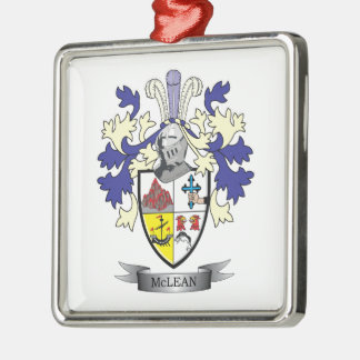 McLean Family Crest Coat of Arms    TITLE Metal Ornament