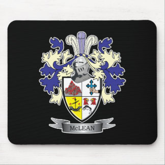 McLean Family Crest Coat of Arms    TITLE Mouse Pad