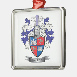 McLeod Family Crest Coat of Arms Metal Ornament