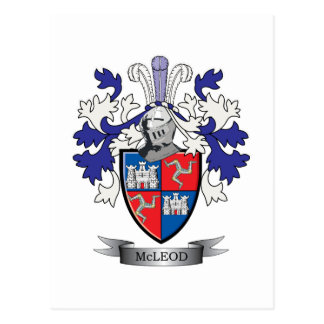 McLeod Family Crest Coat of Arms Postcard